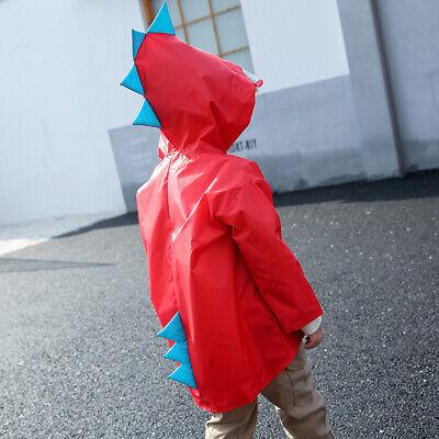 Kids Cartoon Raincoat Waterproof Hooded Jacket Boys Girls Children Rain Coat d8j 3