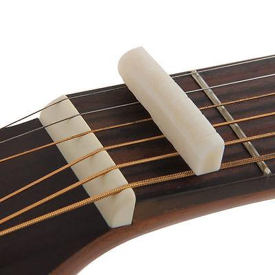 Fresh Buffalo Bone Bridge Saddle And Slotted Nut For 6 String Acoustic Guitar TS 3
