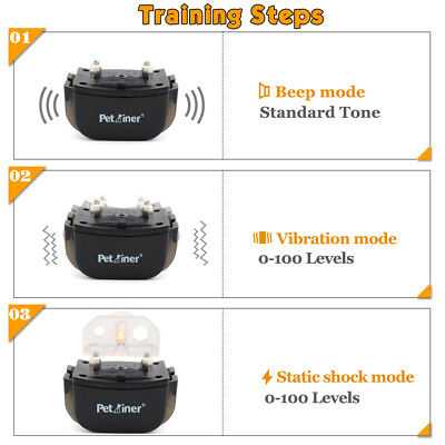 Petrainer Dog Training Shock Collar &Remote Electric Rechargeable Bark Control 2