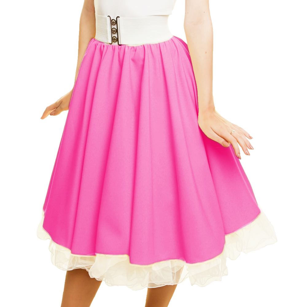 GIRLS SANDY SKIRT Plain 1950s Costume Circle Skirt Rock and Roll GREASE COSTUME 6