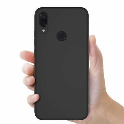 Cover Custodia + Pellicola Vetro Temperato Per Xiaomi Redmi Note 7 Nero Opaco 4