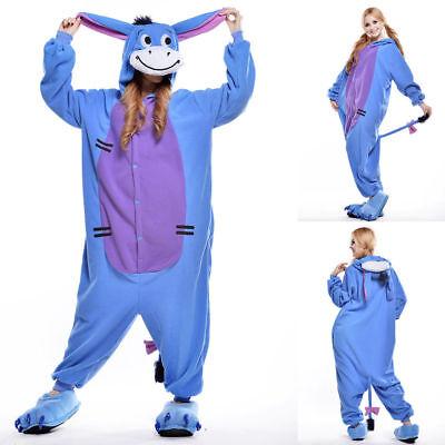 Unisex Adult Winnie The Pooh Flannel Onesie11 Cosplay Costume Kigurumi Pajamas* 4