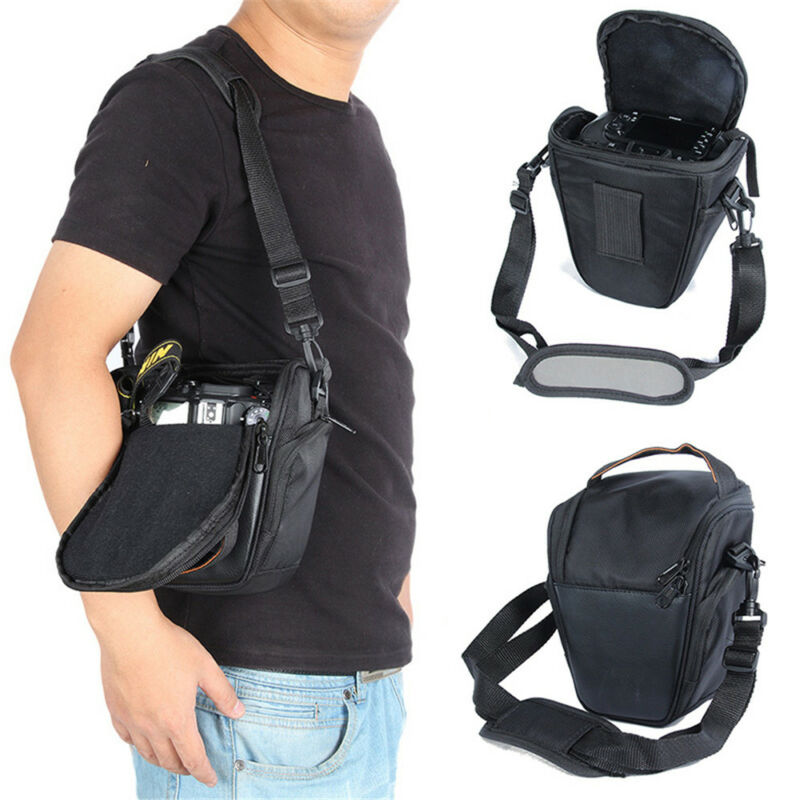 Triangle Black Camera Bag Backpack SLR Case for Canon Nikon Sony SLR DSLR Hot 3