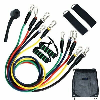 11pcs Resistance Bands Set Exercise Fitness Tube Workout Bands Strength Training 4