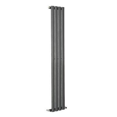 Designer Vertical Oval Column Tall Upright Central Heating Radiator Anthracite 4