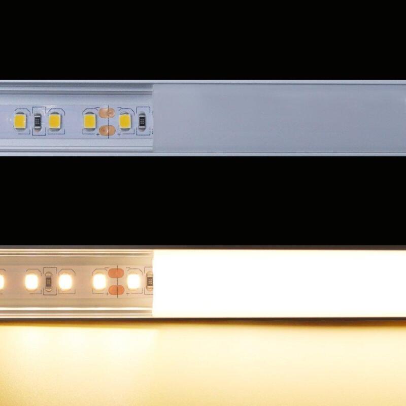 6pcs/12pcs 3.3ft DIY Aluminum Channel Holder W/Cover&Mount For LED Light Strip 3