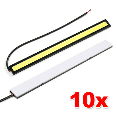 10X 12V Waterproof White DRL LED Strip Lights Bars Camping Caravan Boat Car COB