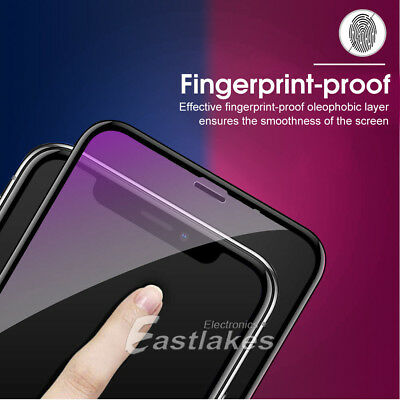 2X Apple iPhone XS Max XR X 6D Full Cover Screen Protector Tempered Glass Black 2