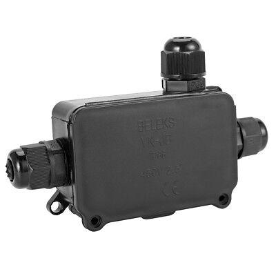 Packs 2/3 Way Outdoor Waterproof IP66 Underground Cable Connectors Junction Box 6