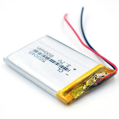10Pcs 503048 3.7V 800 mAh Battery Rechargeable Li-Polymer LiPo for GPS Bluetooth 9