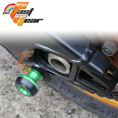 Twall Protector Green  Swingarm Spools Sliders Fit Kawasaki Ninja 300R 2013-2015