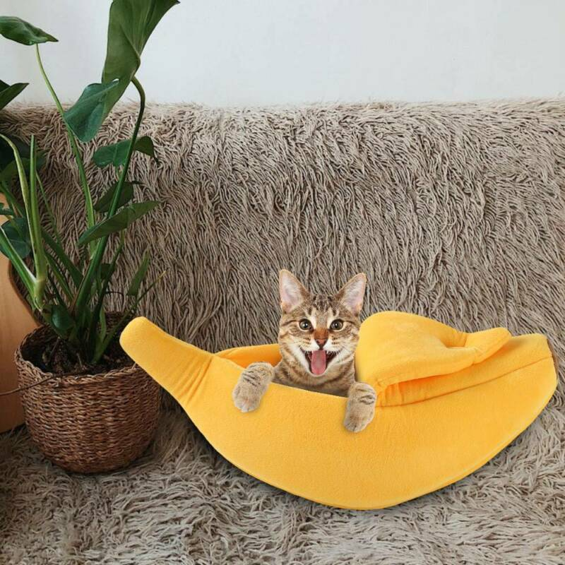 Banana Cat Dog House Soft Warm Puppy Kennel Sleeping Bed House Tent Pet Supplies 6
