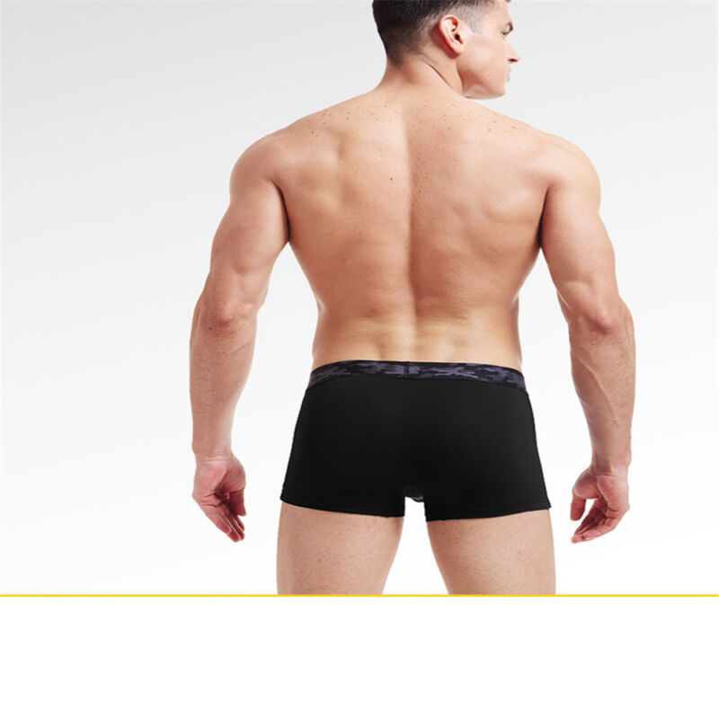 Men's Ice Silk Underwear Boxer Brief Thin Elastic Cotton Breathable New Hot 10