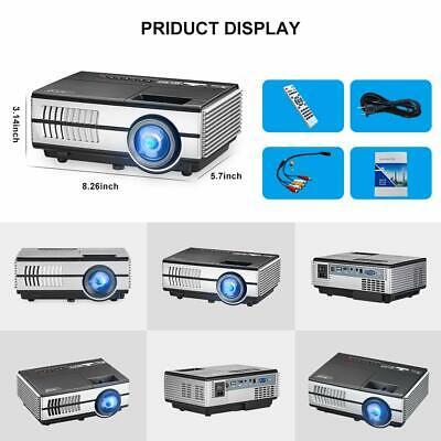 HD Portable Android Mini Wifi Bluetooth Projector LED Home Cinema Kodi HDMI USB 12