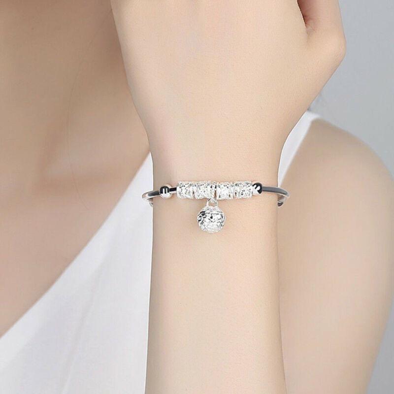 Fashion Women Jewelry 925 Sterling Silver Plated Cuff Bracelet Charm Bangle Gift 3