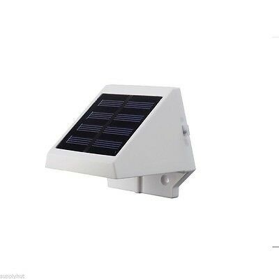 4 LED Solar Powered Stairs Fence Garden Security Lamp Outdoor Waterproof Light 5
