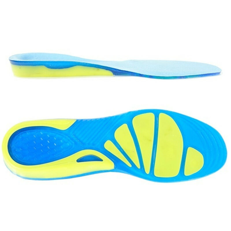 Silicon Gel Insoles Foot Care Pads for Plantar Fasciitis Heel Spur Sport New 11