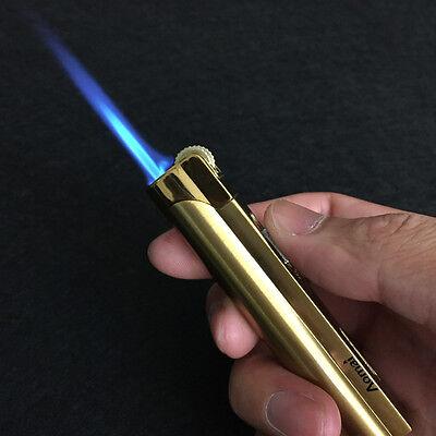 Lot 5pcs  Windproof  Jet  Torch Lock Flame Cigar Cigarette Flint Lighter Gold 2