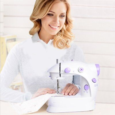 Mini Portable Hand-held Clothes Sewing Machine Home Travel LED Electric DIY UK 2