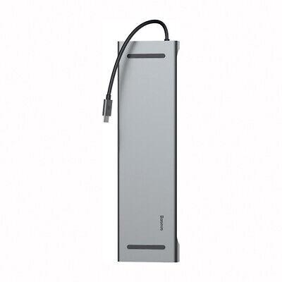 USB Type C 3.1 Docking Station HUB VGA HDMI Video Converter Giga Lan Card Reader 6