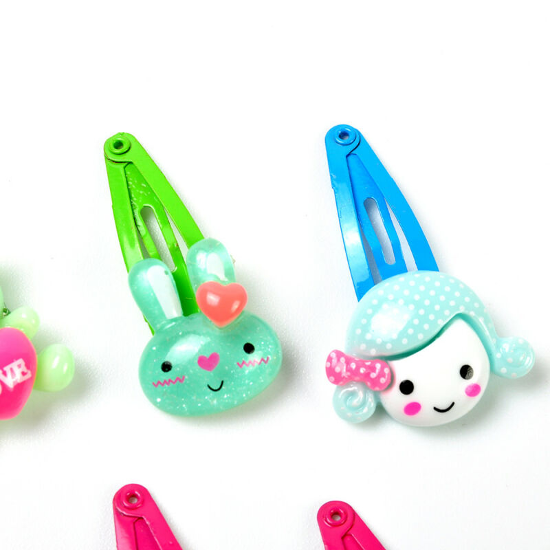 Wholesale 20pcs/Sets Mixed Cartoon Baby Kids Girls HairPin Hair Clips Jewelry- 10
