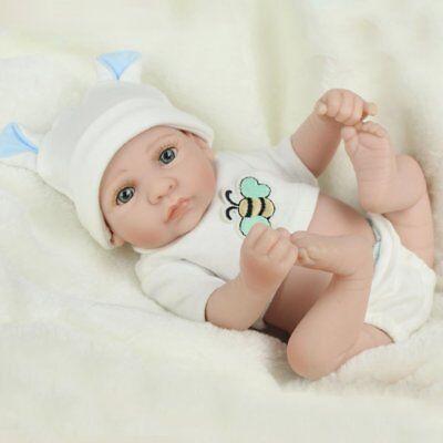 Handmade Newborn Baby Boy Doll Full Silicone Vinyl Realistic Reborn Dolls Xmas 2