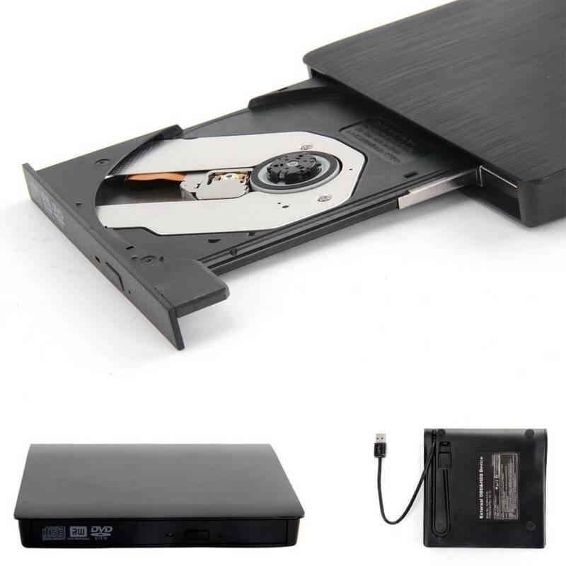 Slim USB 2.0 External CD-RW DVD ROM Drive Writer Reader Burner For Laptop PC UK 2