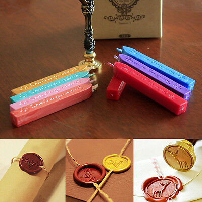 5Pcs Wax Sealing Stick Letter Stamp Seal Melting Candle Envelope Sealing Tools