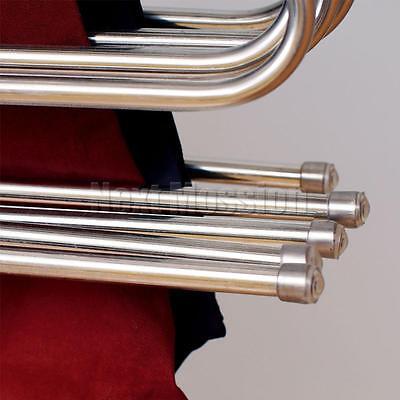 1-10pcs Pants Hangers Trousers S Type Layer Holder Scarf Tie Towel Rack Multi AU 8
