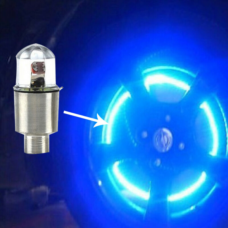 4x Car Auto SUV Wheel Tire Tyre Air Valve Stem LED Light Caps Cover Accessories 4