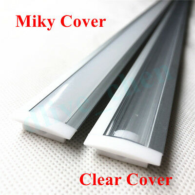 Embedded Aluminum Shell PC Cover Dual Row 5630 Led Strip Bar Light 12V 1M 0.5M 6