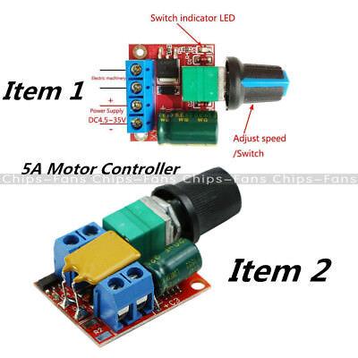 DC 3V-35V 5V-35V 5A Mini Motor PWM Speed Control Switch LED Dimmer Controller 3