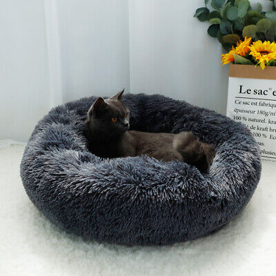 Small Large Pet Dog Puppy Cat Calming Bed Cozy Warm Plush Sleeping Mat Kennel 10