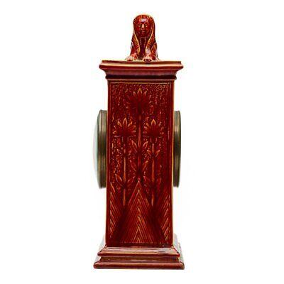 Burmantofts Faience Mantel Clock With Sphinx 3