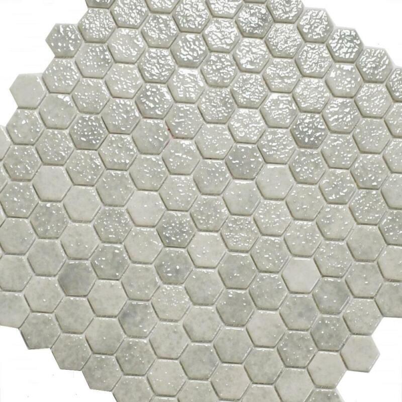 Sorte Mosaik Jasba 2117 Dollar grau glänzend Kreise 27,5 x 27,5 I