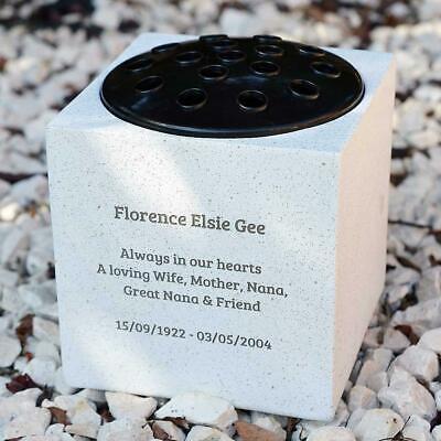 Personalised Customised Memorial Graveside Flower Rose Bowl Vase Pot 5