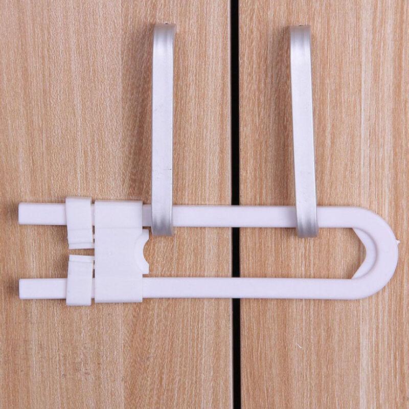 Baby Safety Lock U Shape Kids Cabinet Locks Protection Cabinet Security Locking 7