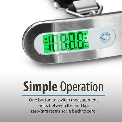 Portable Travel 110lb / 50kg LCD Digital Hanging Luggage Scale Electronic Weight 2