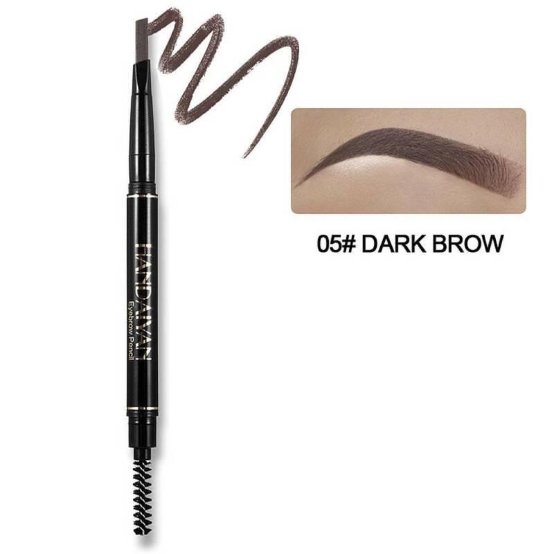 HANDAIYAN 5 Color Double Ended Eyebrow Pencil Waterproof Long Lasting Triangle 12