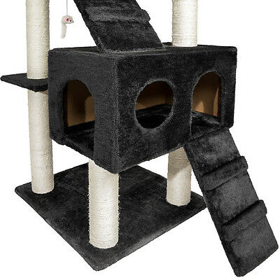 Arbre à chat griffoir grattoir 186cm NOIR 4 • EUR 77,90