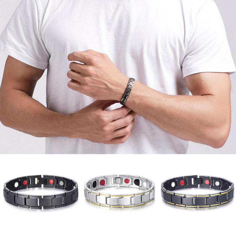 Therapeutic Energy Bracelet - Magnet Therapy Bracelet Health Care (Men Style) 8