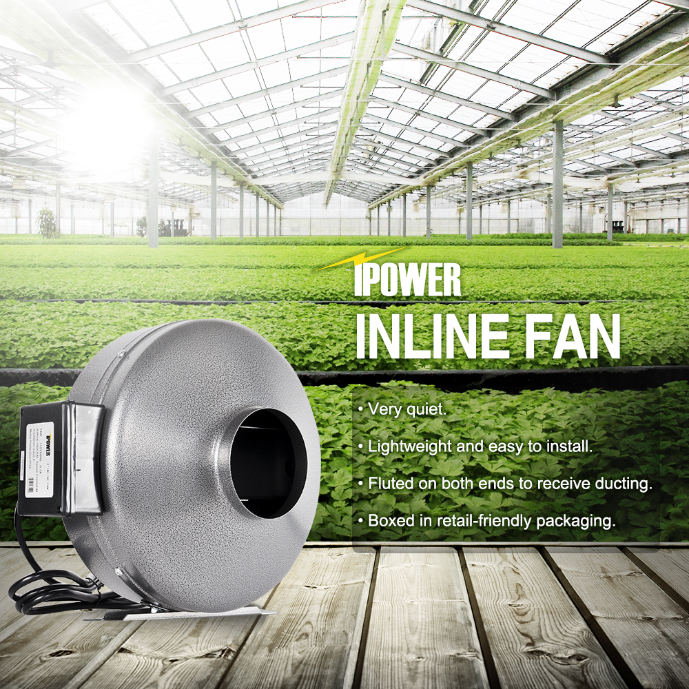 1 Of 8free Ipower 4 6 8 10 12 Inch Inline Duct Fan Exhaust