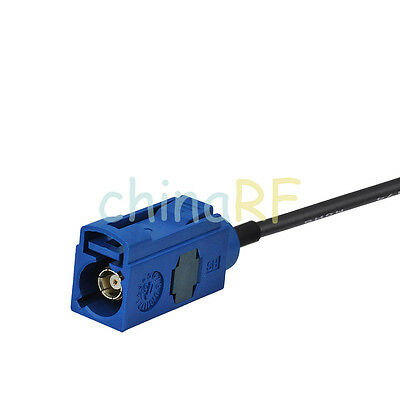 """Fakra Jack C to Fakra E Female for GPS Antenna &TV1 Extension cable RG174 6"""" DIY 2"""