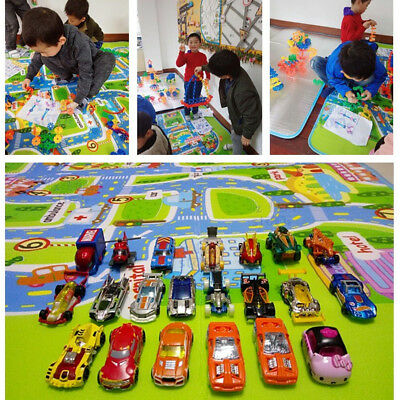 Kids Rug Play Mat Cushion Soft Carpet for Baby Educational Road Traffic City 4
