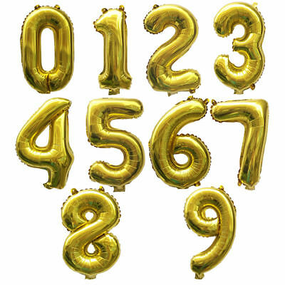 """32"""" 40"""" Giant Foil Number Balloons letter Air Helium Birthday Age Party Wedding 3"""