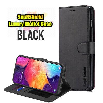 Samsung Galaxy A70 A50 A30 A20  A10e A90 Genuine Leather Wallet Flip Case Cover 3