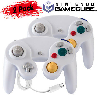 2Pack Wired NGC Controller Gamepad for Nintendo GameCube GC & Wii U Console 2