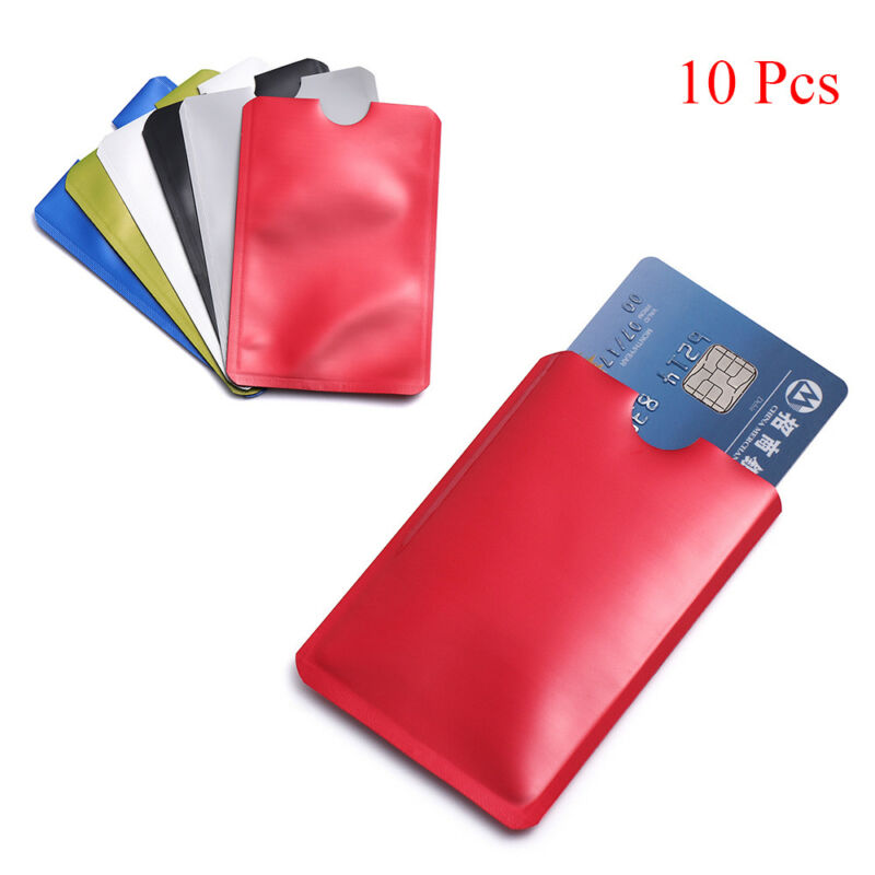 For RFID Secure Protector Blocking ID Credit Card Sleeve Holder Case Skin 10pcs 6