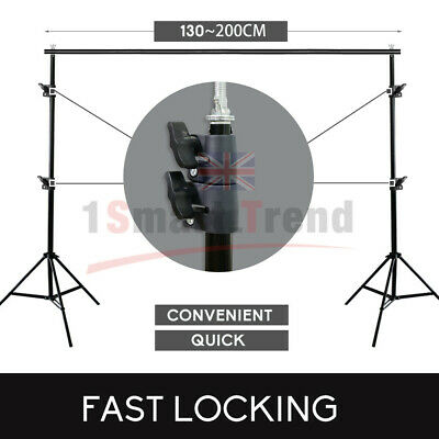 Black/White/Green/Gray Photo Backdrop Screen Background Crossbar Support Stand 11