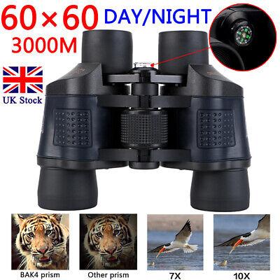 Professional HD 60x60 Military Army Optics Zoom Binoculars Day/Night Telescope 2